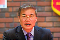 Ambassador to UK His Excellency Mr. Hyon Hak Bong of the Democratic People's Republic of Korea speaking at Saklatvala Hall's CPGBML Commemoration, celebrating the centenary of Kim Il-sung's birth, Easter Sunday 2012 Southall