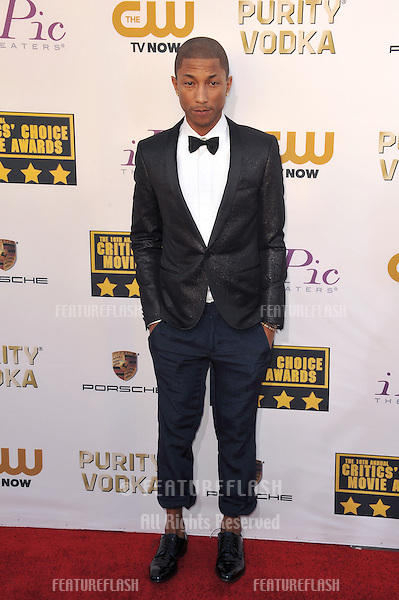 Pharrell Williams at the 19th Annual Critics' Choice Awards at The Barker Hangar, Santa Monica Airport.<br /> January 16, 2014  Santa Monica, CA<br /> Picture: Paul Smith / Featureflash