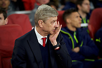 Manager Arsene Wenger of Arsenal during the UEFA Champions League round of 16 match between Arsenal and Bayern Munich at the Emirates Stadium, London, England on 7 March 2017. Photo by Alan  Stanford / PRiME Media Images.