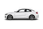 Car driver side profile view of a 2018 BMW 2 Series Sport 2 Door Coupe