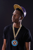 Tolu, leather cap and jewellery, Kali Ratcliffe (MA GSM&J, 2014)