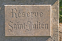 Reserve Saint Julien, a vineyard just outside the village Saint Emilion in Bordeaux
