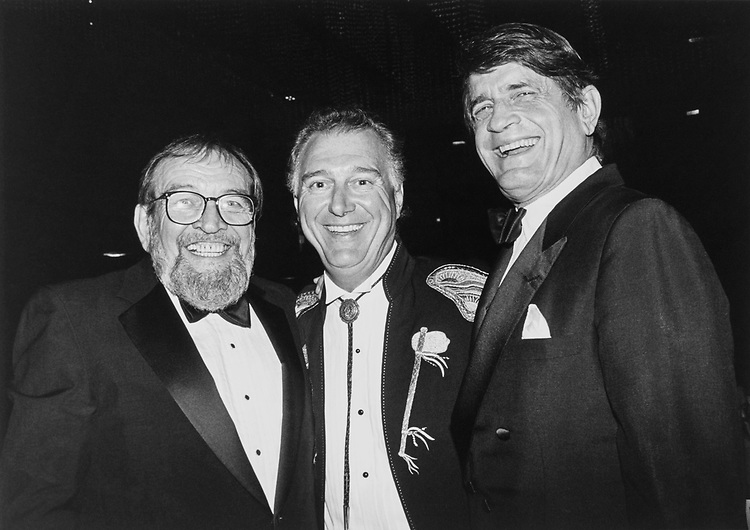 Independent action roast to governor Ann Richards with Larry L. King, novelist and playwright, Jerry Jeff Walker, country and western singer and Rep. Charlie Wilson, D-Tex., Charlie Wilson good times on June 13, 1991. (Photo by Maureen Keating/CQ Roll Call)