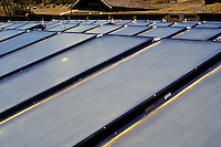 Solar panels at the astronomers quaters at Mauna Kea observatories