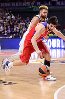 Real Madrid's Jeffery Taylor and CSKA Moscow Milos Teodosic during Turkish Airlines Euroleague match between Real Madrid and CSKA Moscow at Wizink Center in Madrid, Spain. January 06, 2017. (ALTERPHOTOS/BorjaB.Hojas)