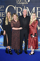 LONDON, UK. November 13, 2018: Phillip Schofield &amp; family at the &quot;Fantastic Beasts: The Crimes of Grindelwald&quot; premiere, Leicester Square, London.<br /> Picture: Steve Vas/Featureflash