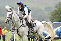 Blair Atholl, Scotland, UK. 12th September, 2015. Longines  FEI European Eventing Championships 2015, Blair Castle. Johan Lundin (SWE) riding Johnny Cash during the Cross country phase © Julie Priestley