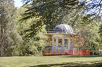 The Temple is under renovation at James Madison's Montpelier in Orange County, Va. Photo/Andrew Shurtleff