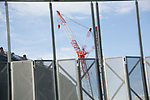 A crane is seen at the New National Stadium under construction on November 26, 2017, Tokyo, Japan. The New National Stadium will be the venue for 2020 Tokyo Olympic and Paralympic Games. (Photo by Rodrigo Reyes Marin/AFLO)