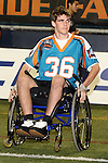 San Francisco Dragons vs Los Angeles Riptide.Lebard Stadium, Orange Coast College,Huntington Beach, California.Cameron Piorek of Aliso Niguel was paralyzed from the chest down following a collision during a high school game in April 2008.506P1838.JPG.CREDIT: Dirk Dewachter