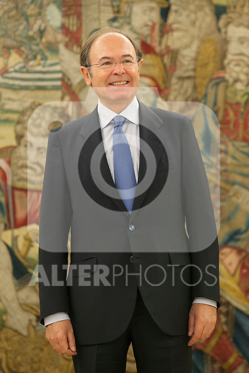 Senate President Pio Garcia-Escudero during an audience with King Felipe VI of Spain at Zaruzela Palace in Madrid, Spain. June 23, 2013. (ALTERPHOTOS/Victor Blanco)