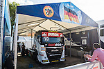 Monegasque driver Ellen Lohr belonging German team Truck Sport Lutz Bernau Hungarian driver Norbert Kiss belonging German team Tankpool 24 Racingduring the third race R3 of the XXX Spain GP Camion of the FIA European Truck Racing Championship 2016 in Madrid. October 02, 2016. (ALTERPHOTOS/Rodrigo Jimenez)