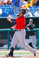 Chris Davis May 5th, 2010; Oklahoma CIty Redhawks vs Omaha Royals at historic Rosenblatt Stadium in Omaha Nebraska.  Photo by: William Purnell/Four Seam Images