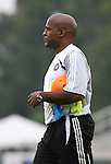 15 July 2007: Chicago assistant coach Denis Hamlett.  The United Soccer League Division 1 Carolina Railhawks defeated Major League Soccer's Chicago Fire 1-0 in a Third Round Lamar Hunt U.S. Open Cup game at SAS Stadium in Cary, North Carolina.