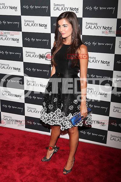 Camilla Belle attends the Samsung Galaxy Note 10.1 Launch Event in New York City, August 15, 2012. © Diego Corredor/MediaPunch Inc. /NortePhoto.com<br />