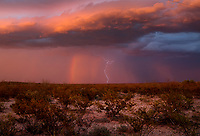 Lightning, storm, storm chasing, storm chaser, Arizona, weather, clouds, desert, mountains, rain, monsoon, rainbow