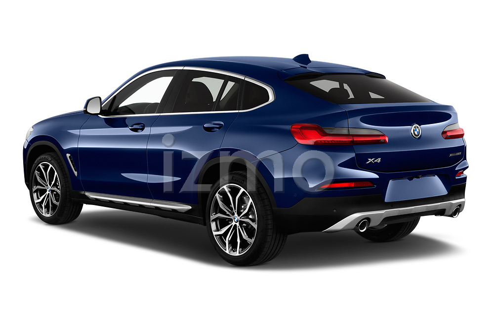 Car pictures of rear three quarter view of a 2018 BMW X4 x Line 5 Door SUV angular rear