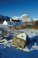 Buachaille Etive Mor and Blackrock Cottage, Glencoe, Highland<br /> <br /> Copyright www.scottishhorizons.co.uk/Keith Fergus 2011 All Rights Reserved