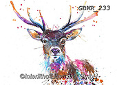 Simon, REALISTIC ANIMALS, REALISTISCHE TIERE, ANIMALES REALISTICOS, innovative, paintings+++++A_KatherineW_SplatterRainbowStag,GBWR233,#a#, EVERYDAY