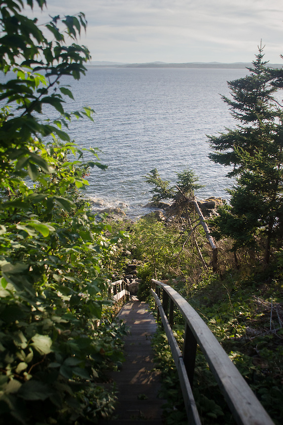 39 Steps Down to Dyce's Head, Castine, Maine, US