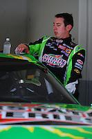 Jul. 3, 2008; Daytona Beach, FL, USA; NASCAR Sprint Cup Series driver Kyle Busch during practice for the Coke Zero 400 at Daytona International Speedway. Mandatory Credit: Mark J. Rebilas-