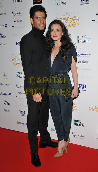 Raza Jaffrey &amp; Lara Pulver attend the Whatsonstage.com Awards Concert 2016, Prince of Wales Theatre, Coventry Street, London, UK, on Sunday 21 February 2016.<br /> CAP/CAN<br /> &copy;CAN/Capital Pictures