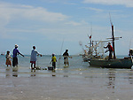 Thailand, Thai, Fishing, Woman, Family, Children, Beach, Buddist Temple, Bell, Squid, Boats, Boardwalk, Hua Hin, Monkey, Water, Nets, Fish,