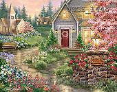 Dona Gelsinger, LANDSCAPES, LANDSCHAFTEN, PAISAJES,church, paintings+++++,USGE1445,#L#