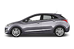 Car driver side profile view of a 2015 Hyundai I30 Joy 5 Door Hatchback