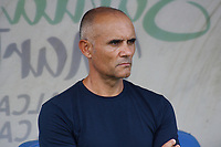 SANTA MARTA - COLOMBIA, 12-10-2019: Jose Arastey técnico de Envigado gesticula durante el partido por la fecha 17 de la Liga Águila II 2019 entre Unión Magdalena y Envigado F.C. jugado en el estadio Sierra Nevada de la ciudad de Santa Marta. / Jose Arastey coach of Envigado gestures during match for the date 17 as part Aguila League II 2019 between Union Magdalena and Envigado F.C. played at Sierra Nevada stadium in Santa Marta city. Photo: VizzorImage / Gustavo Pacheco / Cont