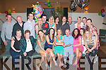 29 Still: Bridget Concagh,Ballyvalley(seated centre)had a fab time celebrating her 30th birthday last Saturday night in O'Donnell's bar/restaurant,Mounthawk,Tralee,surrounded by loads of family and friends.