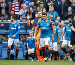 James Tavernier leads out the Rangers team