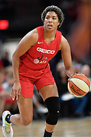 Washington, DC - August 25, 2019: Washington Mystics forward Tianna Hawkins (21) handles the ball during second half action of game between the New York Liberty and the Washington Mystics at the Entertainment and Sports Arena in Washington, DC. The Mystics defeated New York 101-72. (Photo by Phil Peters/Media Images International)