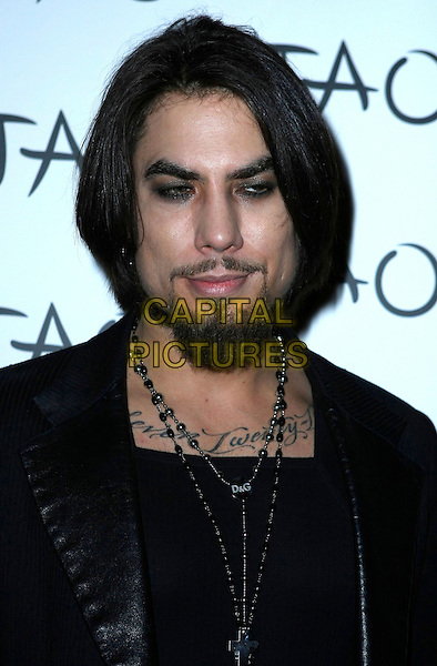 DAVE NAVARRO.Rocker Dave Navarro hosts the First Annual Porn Star Ball at TAO Nightclub inside the Venetian Resort Hotel and Casino, Las Vegas, Nevada, USA..January 9th, 2009.headshot portrait black goatee facial hair tattoos necklace .CAP/ADM/MJT.© MJT/AdMedia/Capital Pictures.
