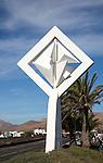 Wind sculpture outside Fundación César Manrique, Taro de Tahíche, Lanzarote, Canary islands, Spain