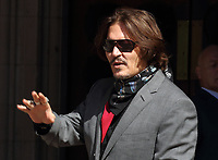 Johnny Depp attends his libel trial against The Sun newspaper at the Royal Courts of Justice. London on July 21st 2020<br /> <br /> Photo by Keith Mayhew