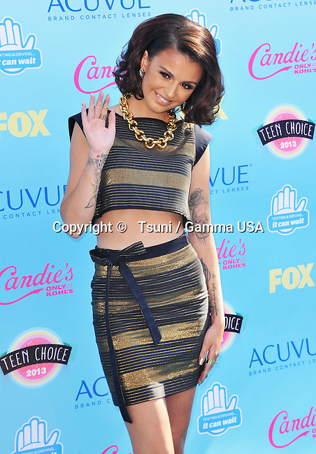 Cher Lloyd  at the Teen Choice Awards 2013 at the Universal Amphitheatre in Los Angeles.