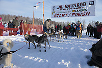 Saturday February 25, 2012   at Knik Lake during the Junior Iditarod start.  Conway Seavey