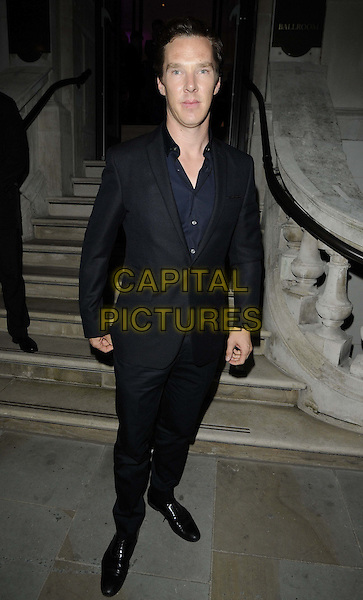 Benedict Cumberbatch.at the Esquire/Mr Porter/Jimmy Choo Event, Corinthia Hotel, Whitehall Place, London, England..15th June 2012.full length blue suit black shirt .CAP/CAN.©Can Nguyen/Capital Pictures.