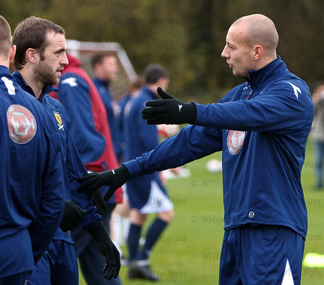 James McFadden and Alan Hutton