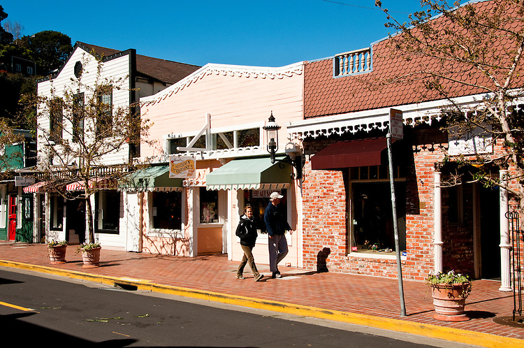 Main Street Shops, shopping, Tiburon, California, USA.  Photo copyright Lee Foster.  Photo # california108947