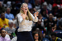 Washington, DC - August 25, 2019: New York Liberty head coach Katie Smith on the sideline during second half action of game between the New York Liberty and the Washington Mystics at the Entertainment and Sports Arena in Washington, DC. The Mystics defeated New York 101-72. (Photo by Phil Peters/Media Images International)
