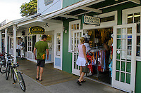 The historic whaling town of Lahaina entices tourist to discover its assortment of specialty gift stores located along scenic Front Street.