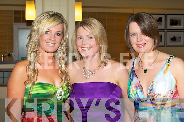 SOCIAL: Enjoying a great time at the Tralee Dynamos annual social at the Brandon hotel on Saturday l-r: Yvonne Duggan, Caroline Meehan and Janice McHugh.