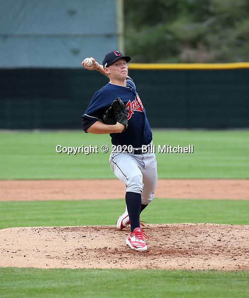 Wes Helsaback - Cleveland Indians 2020 spring training (Bill Mitchell)