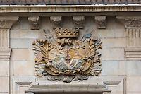 Espagne, Navarre, Pampelune: Palacio Guendulain est un des bâtiments les plus emblématiques de Pampelune, situé dans la vieille ville, Plaza del Consejo , c'est maintenant un Hôtel de charme//  Spain, Navarre, Pamplona:  Palacio Guendulain is one of the most prominent buildings in Pamplona, located in the old part of town, Square: Plaza del Consejo , it is now acharming hotel