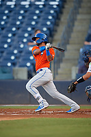 St. Lucie Mets Luis Carpio (12) at bat during a Florida State League game against the Tampa Tarpons on April 10, 2019 at George M. Steinbrenner Field in Tampa, Florida.  St. Lucie defeated Tampa 4-3.  (Mike Janes/Four Seam Images)