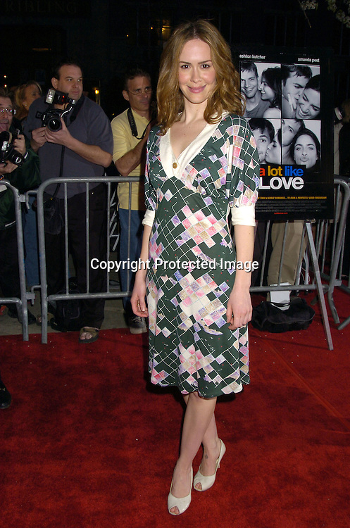 "Sarah Paulson ..at a Special Screening of "" A Lot Like Love"" on april 18, 2005 at the Clearview Chelsea West Cinema. ..Photo by Robin Platzer, Twin Images"