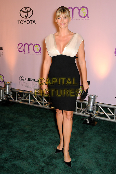 NATASHA HENSTRIDGE .2009 Environmental Media Awards held at Paramount Studios, Los Angeles, California, USA..October 25th, 2009.EMA EMA's EMAS full length black white skirt top dress sleeveless clutch bag neckline low cut cleavage .CAP/ADM/BP.©Byron Purvis/AdMedia/Capital Pictures.