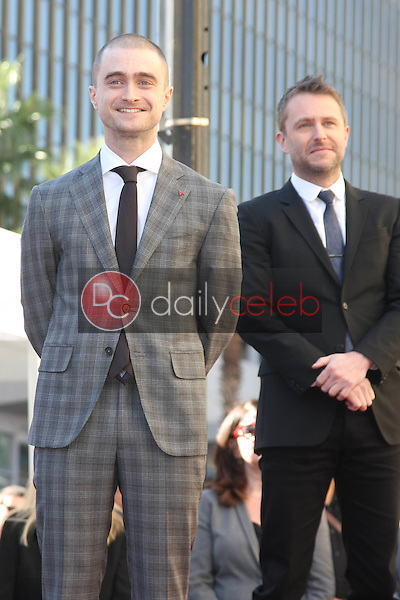Daniel Radcliffe, Chris Hardwick<br /> at the Daniel Radcliffe Star On The Hollywood Walk Of Fame ceremony, Hollywood, CA 11-12-15<br /> David Edwards/DailyCeleb.Com 818-249-4998
